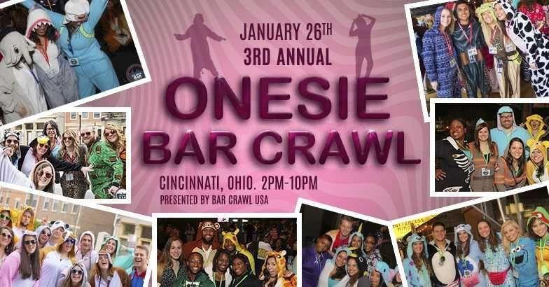 3rd Annual Onesie Bar Crawl Cincinnati