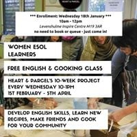 Heart &amp Parcel 10-week ESOL and Cooking project enrollment