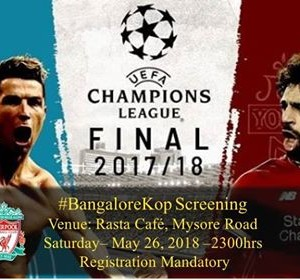 Real Madrid vs Liverpool  UCL Final BangaloreKop Screening