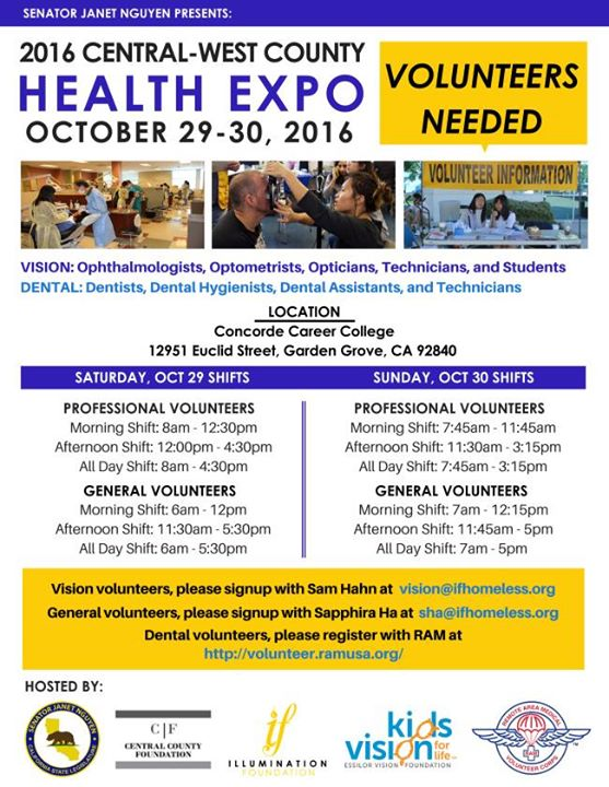 2016 Central West County Health Expo at Concorde Career College