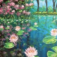 Lily Pond Reflections Paint Nite at Carolina Ale House