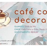 Caf com Decorao.