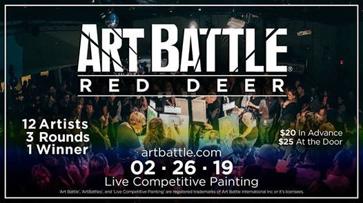 Art Battle Red Deer - February 26 2019