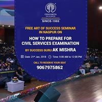 Art of Success Seminar on How to Crack CSE in Nagpur on 21st Jan