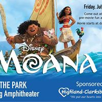 Movies in the Park Moana sponsored by Highland-Clarksburg