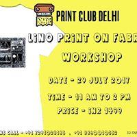 Lino Print on Fabric Workshop