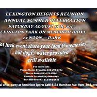 Lexington Heights Reunion Annual Summer Celebration