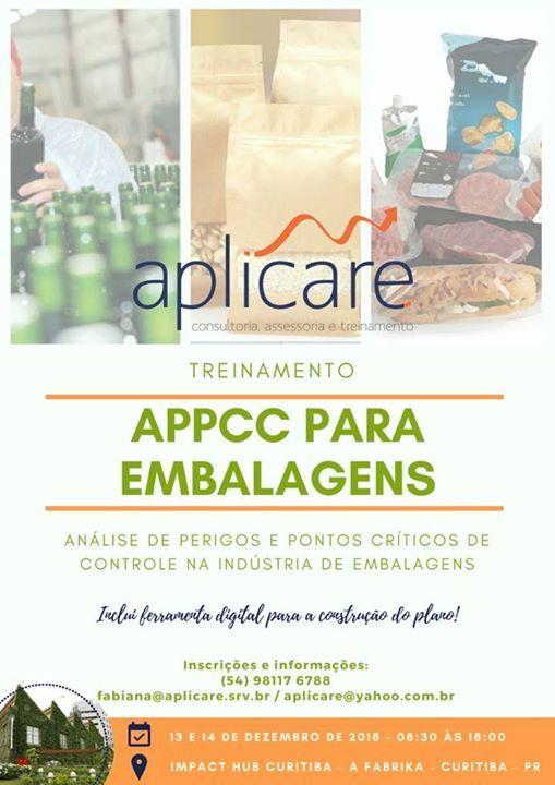 Treinamento APPCC para Embalagens
