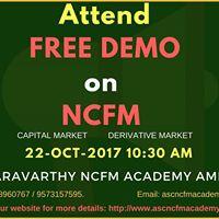NCFM Free Demo (Capital Market Derivative Market)