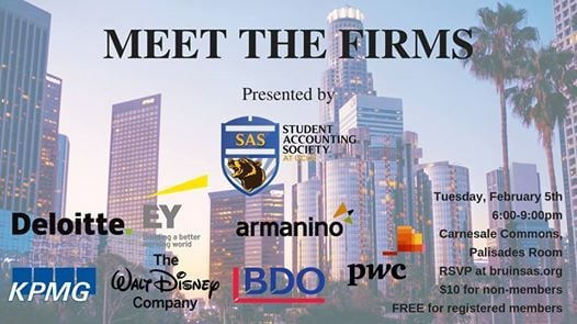 SAS Meet the Firms - Winter 2019 at Carnesale Commons
