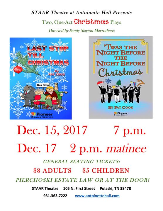 staar theatre at antoinette hall presents christmas plays - Christmas Plays For Adults