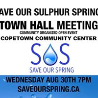 SOS - Save Our Spring Town Hall - August 30th 7pm