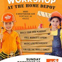 Menorah Workshop at Portage Home Depot