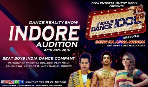 Indias Dance Idol Season 2 TV Reality Show Indore Audition 2019