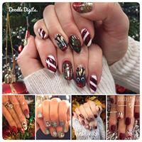Christmas nails at The Snug