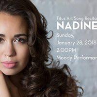 Titus Art Song Recital Series Featuring Nadine Sierra