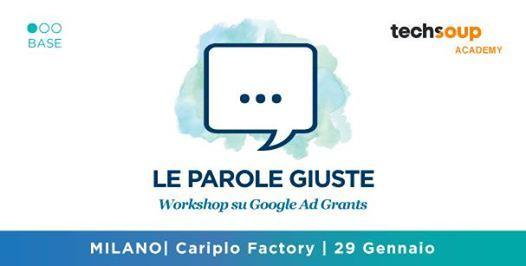 Le Parole Giuste - Il primo workshop su Google AdGrants