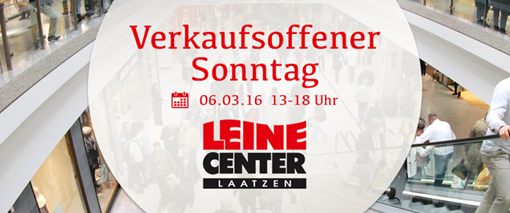 verkaufsoffener sonntag im leine center laatzen at leine center laatzen. Black Bedroom Furniture Sets. Home Design Ideas