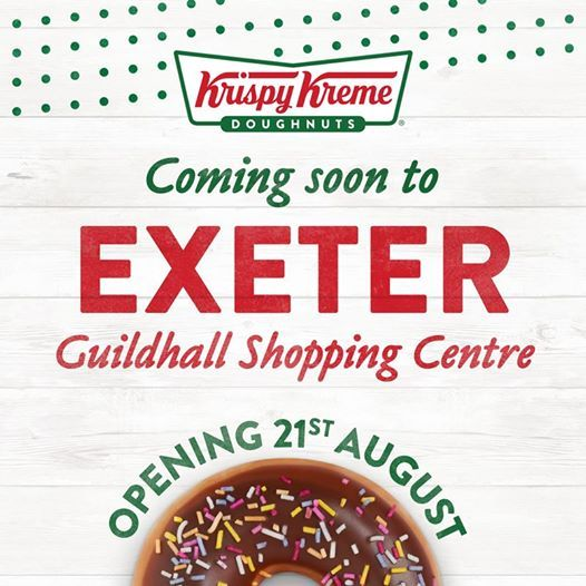 Krispy Kreme is opening in the Guildhall Shopping Centre Exeter