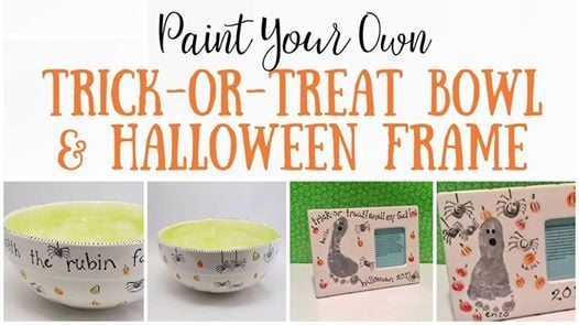 Paint Your Own Trick Or Treat Bowl Halloween Frame At Beansprout
