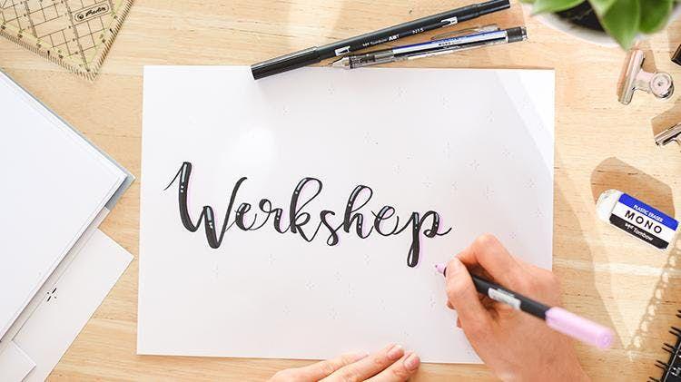 Workshop Handlettering & Brushlettering  Frankfurt  Rhein-Main Lettering  DIY