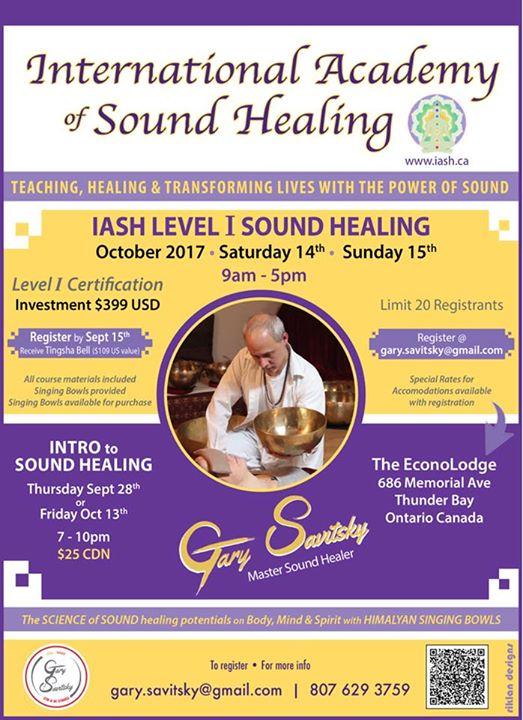 International Academy Of Sound Healing Level One Certification