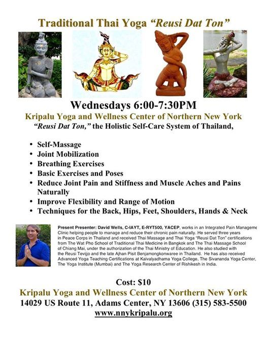 Thai Yoga With David Wells At Kripalu Yoga And Wellness Center Of Nny New York