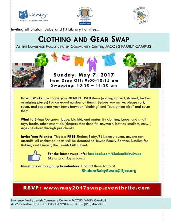 May 2017 Shalom Baby Clothing Gear Swap At Jcc San Diego