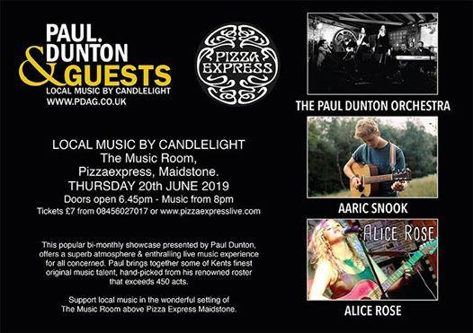 Paul Dunton Orchestra Live At Pizzaexpress Maidstone Maidstone