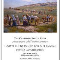 Annual Stake Pioneer Day Celebration