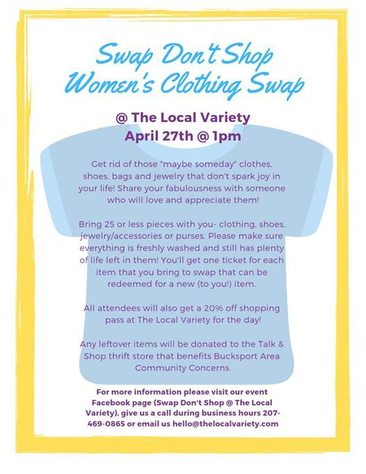 Swap Dont Shop Womens Clothing & Accessories Swap at The