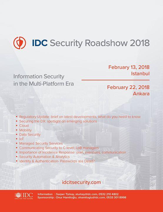 IDC Security Roadshow 2018