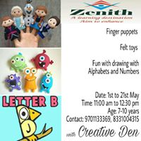 Felt toysFinger poppets &amp Fun drawing with Alphabets n Numbers