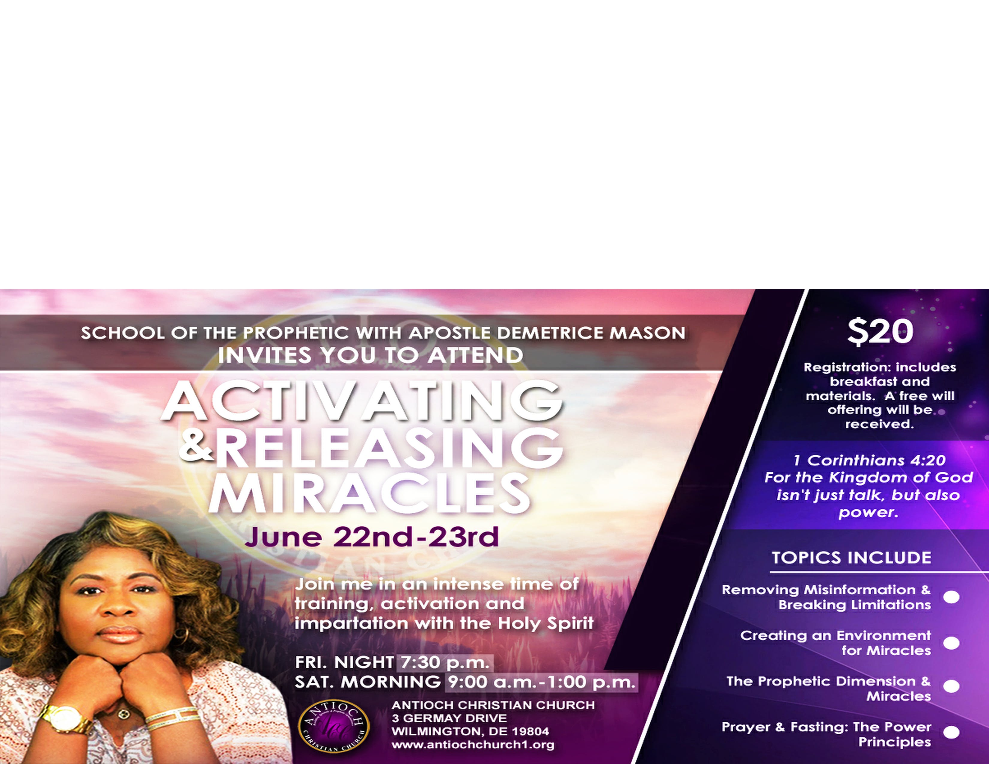 School of the Prophetic with Apostle Demetrice Mason at