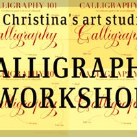 Calligraphy workshop at christina 39 s art studio chennai Calligraphy classes near me