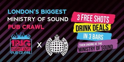 The Biggest Ministry of Sound Pub Crawl - SoundOf London