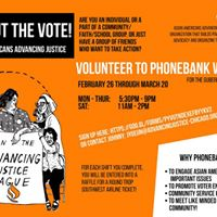 Get Out The Vote Phone Bank with Advancing Justice