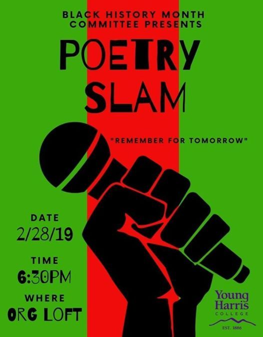 Poetry Slam/Spoken Word at Young Harris College1 College St / PO Box