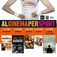 Al cinema per sport per la libera palestra popolare