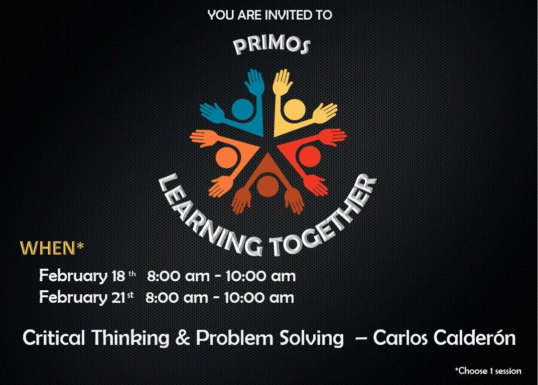 Primos Learning Together - Critical Thinking & Problem Solving