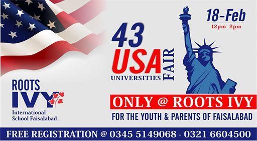 43 USA Universities Fair  Roots IVY Flagship Campus