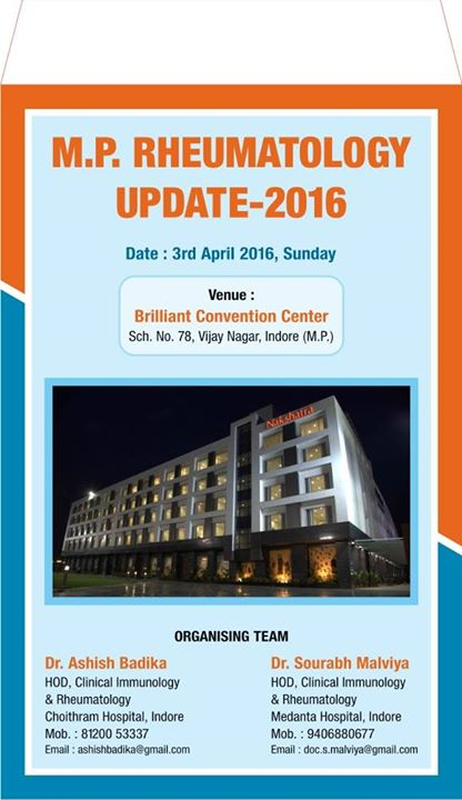 MP Rheumatology Update at Brilliant Convention Center, Indore