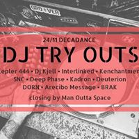 DJ TRY OUTS - Weekend selectors Techno