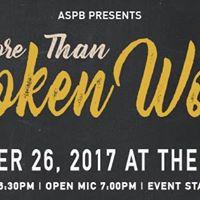 ASPB Presents More Than Spoken Word