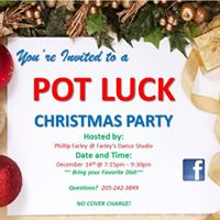Christmas Pot Luck Dance Party
