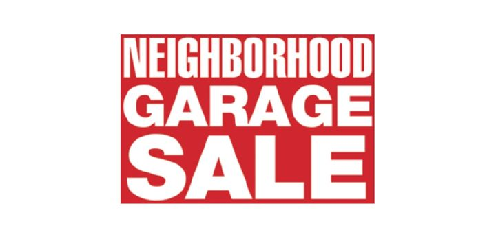 neighborhood garage sale in the lakes of blaine at. Black Bedroom Furniture Sets. Home Design Ideas