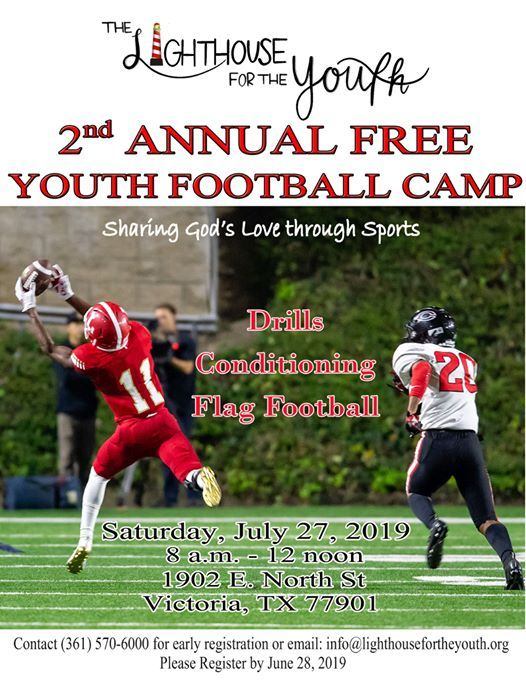 2nd Annual Football Camp at The Lighthouse for The Youth