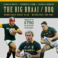 Big Braai BBQ with Schalk Burger Francois Louw and Schalk Brits