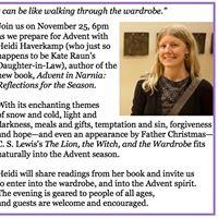 Advent in Narnia - with Rev. Heidi Haverkamp