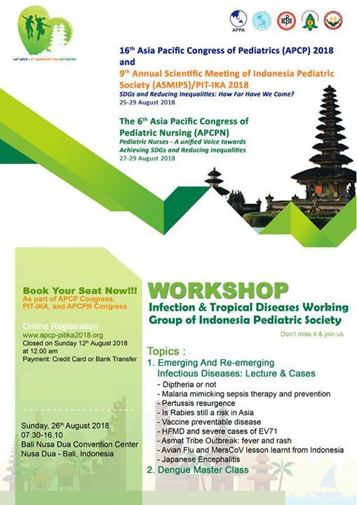 Workshop Infection & Tropical Diseases Working Group Bali